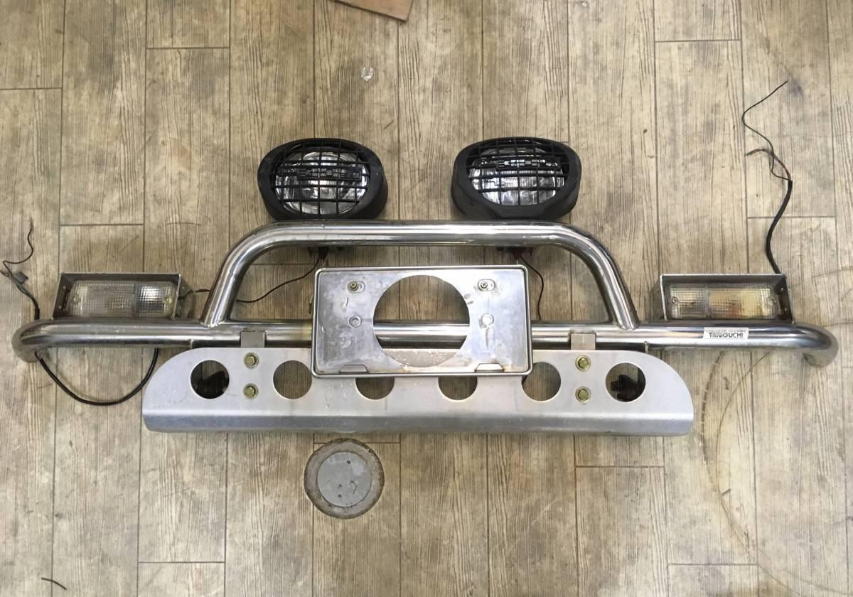 ジムニー タニグチ TANIGUCHI フロントバンパー スキッドプレート付き JA11/71/51 SJ30/40 メッキ バンパー