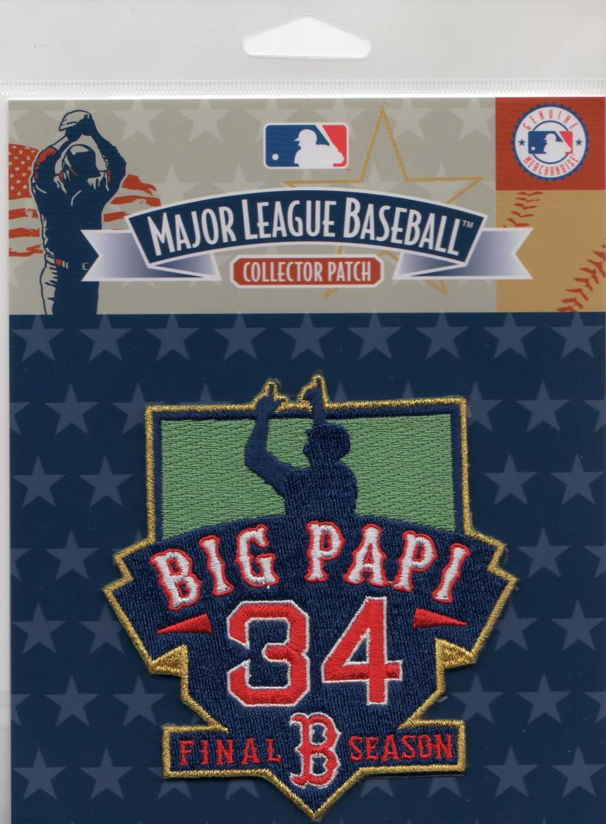 MLB ワッペン Ortiz オルティズ Red Sox レッドソックス 引退 記念 パッチ 1 グッズの画像