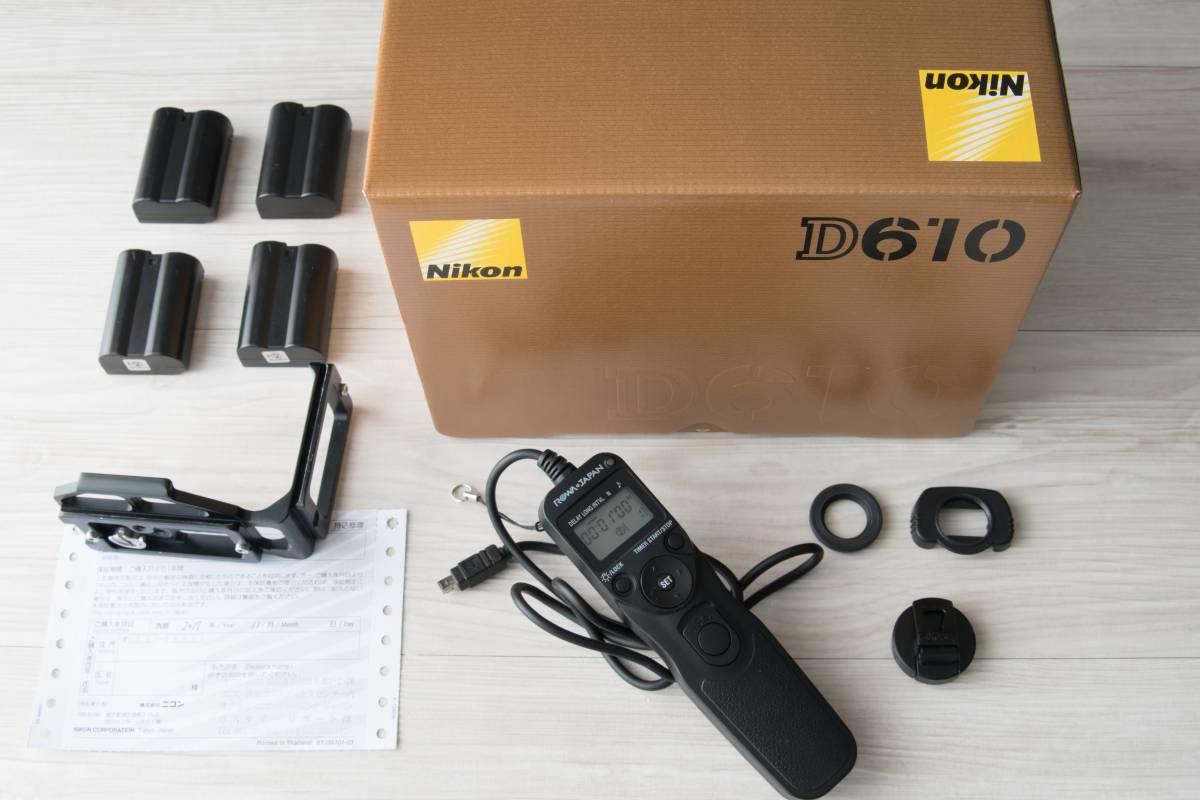 【新品】Nikon D610 ボディ【保証12ヶ月・おまけ多数】