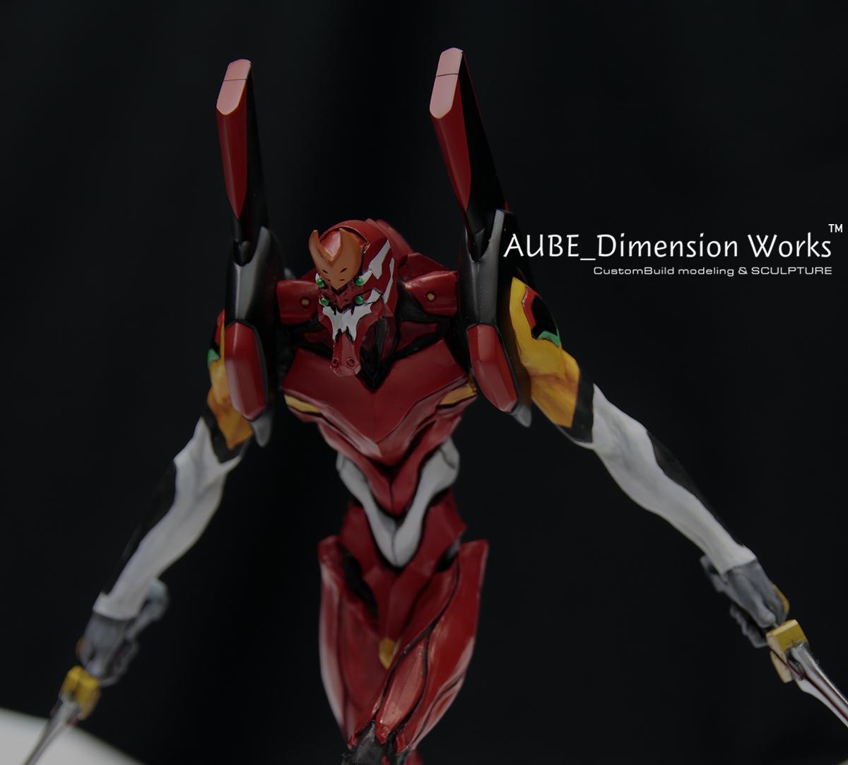 エヴァンゲリオン2号機 「invidia」 ヱヴァンゲリヲン新劇場版:破 ガレージキット塗装済み完成品 METAL BOX(原型)AUBE Dimension