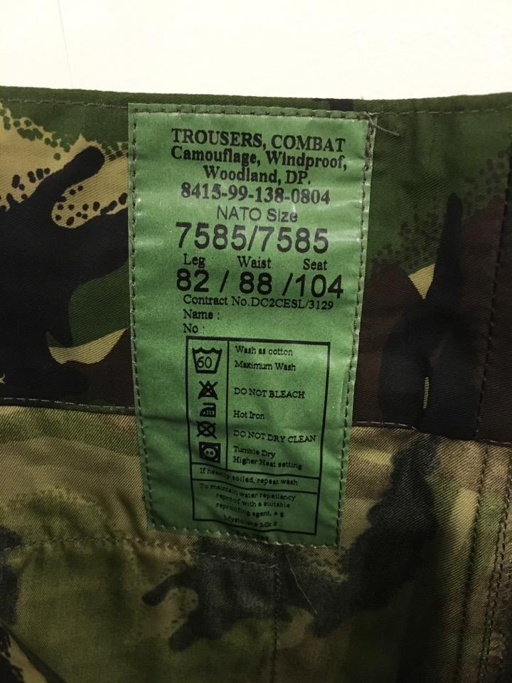 デッドストック イギリス軍 グルカパンツ タイプ DPM 迷彩 コンバット トラウザー ブリティッシュアーミー UK 英国 レア_画像5