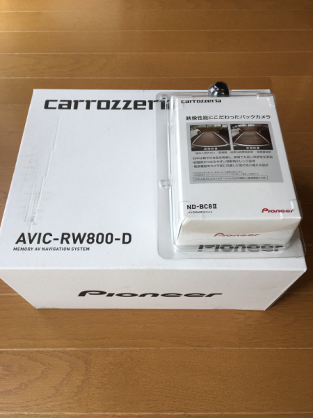 ★カロッツェリア 楽ナビ AVIC-RW800-D 新品未開封 バックカメラ付 ★_画像2