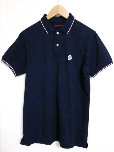 【中古】 BLUE BLUE ブルーブルー ポロシャツ M 2 紺[240010217923]