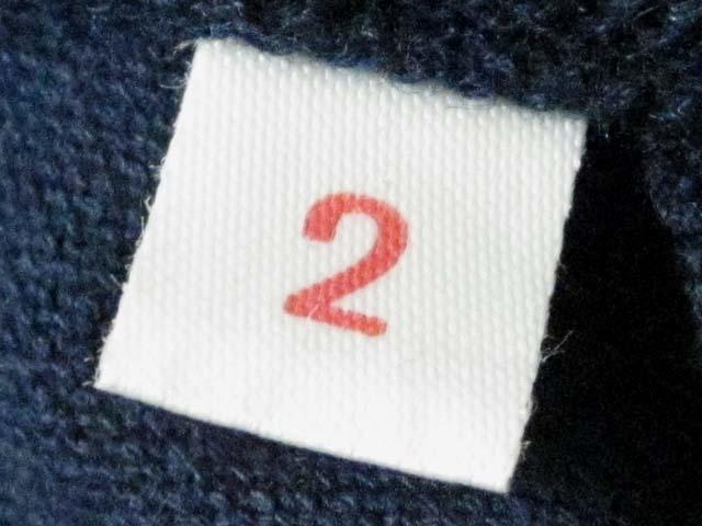 【中古】 BLUE BLUE ブルーブルー ポロシャツ M 2 紺[240010217923]_画像4