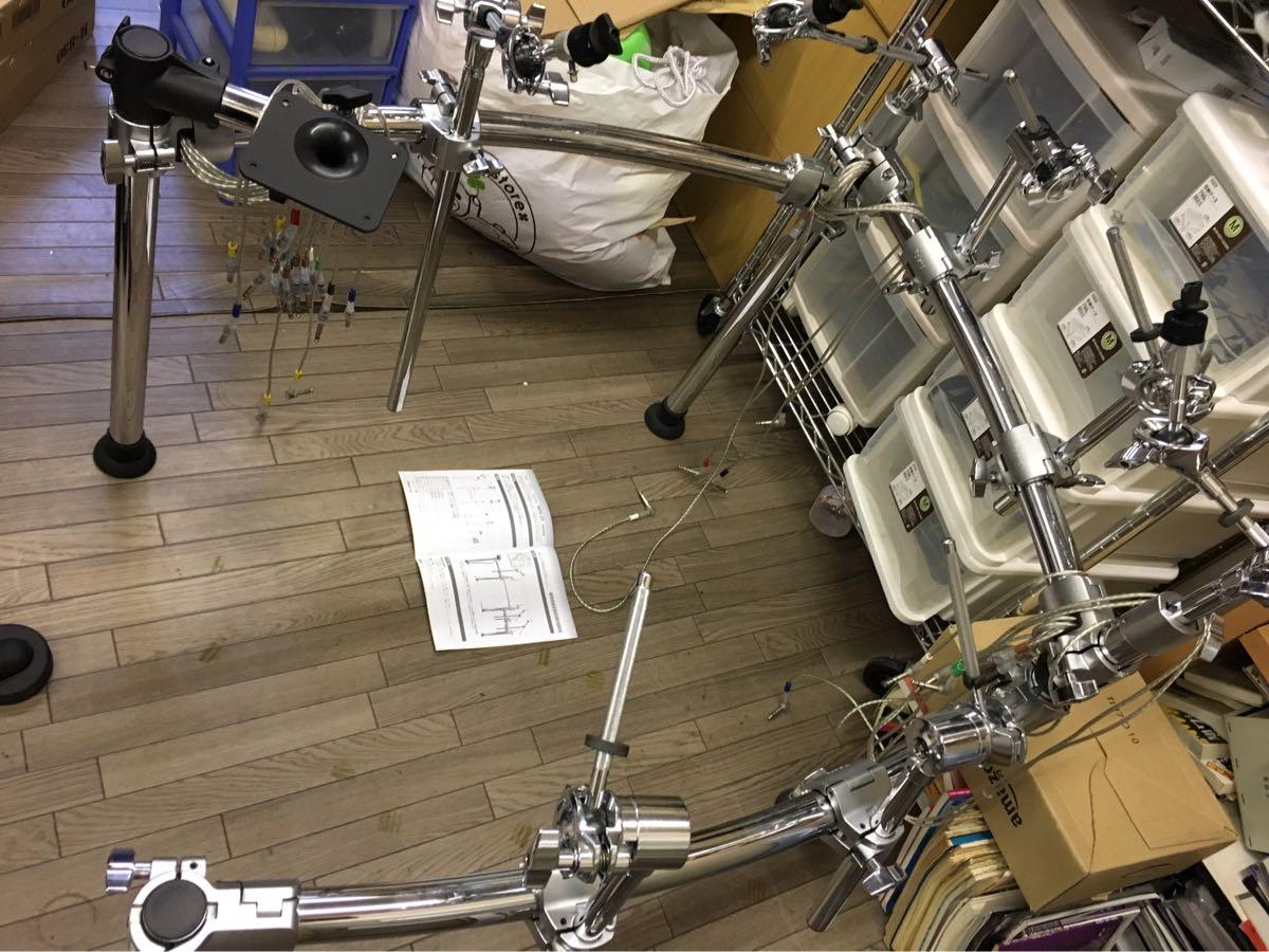roland 電子ドラム mds-25 フラッグシップ ドラムラック 売切り 1円~ (検索 pd cy kd f