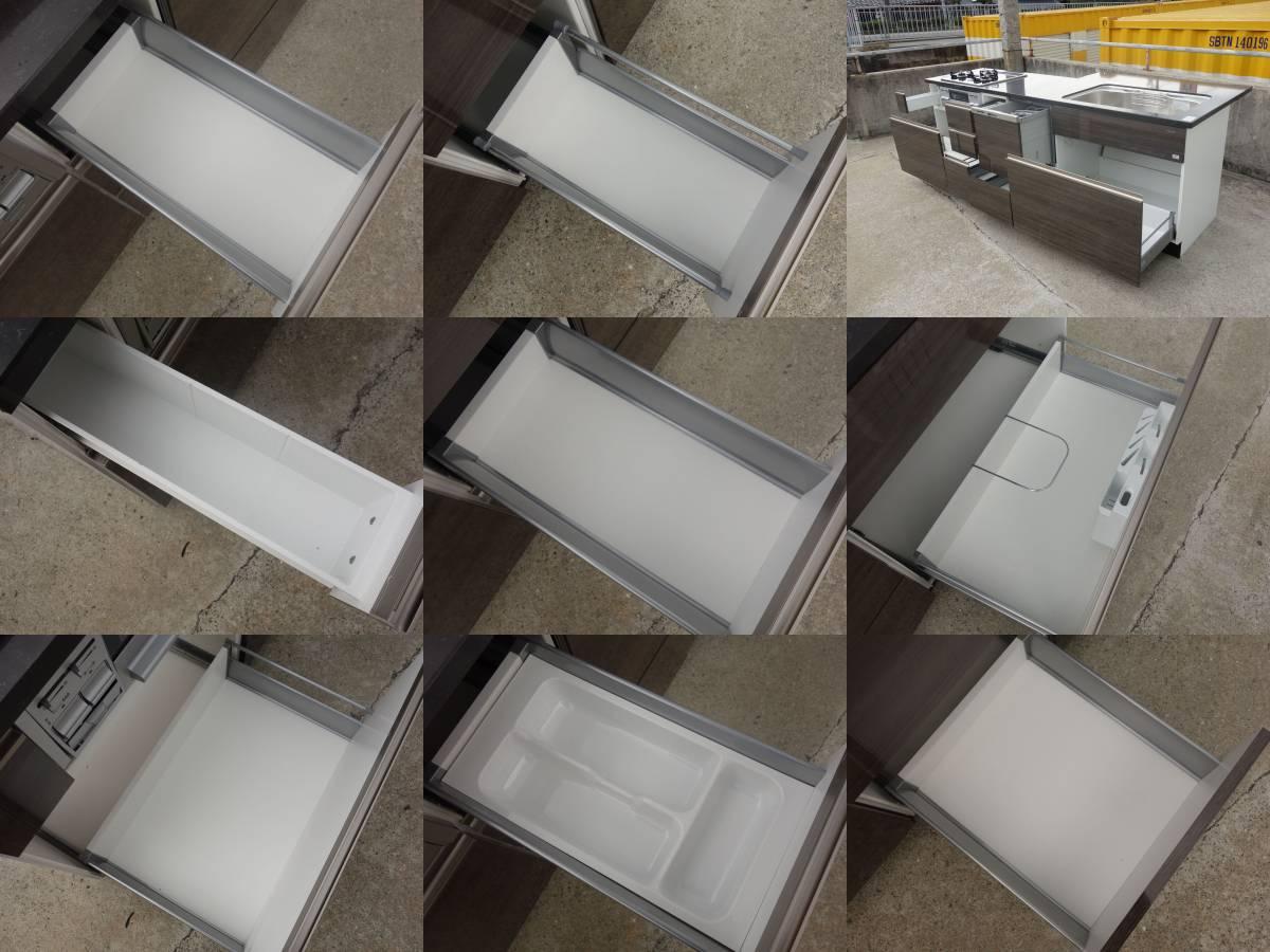 M▽タカラスタンダード システムキッチン ガスコンロ レンジフード 食器洗い乾燥機 W2440 (03208)_画像7