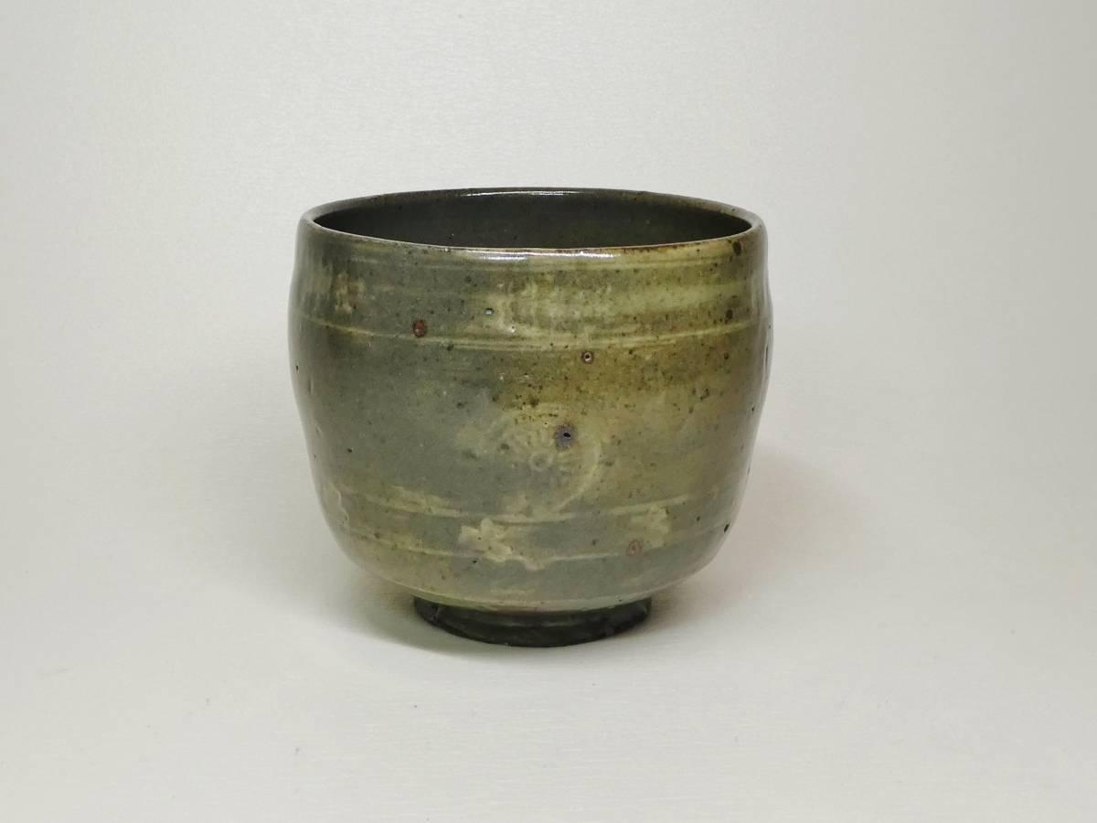 高麗狂言袴筒茶碗(李朝前期)