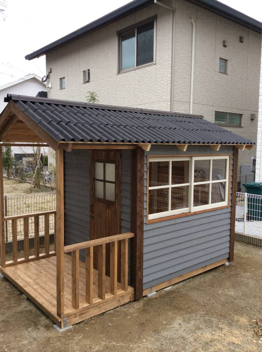 物置 小屋 ログハウス コンテナ ガーデンシェッド_画像9