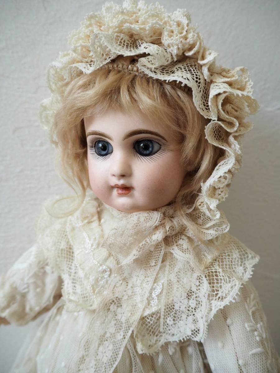 デポゼ テート ジュモー 4号 大きな美しい青い瞳 クリスマスの小さな妖精 フランス アンティーク ビスクドール Depose Tete Jumeau_画像2