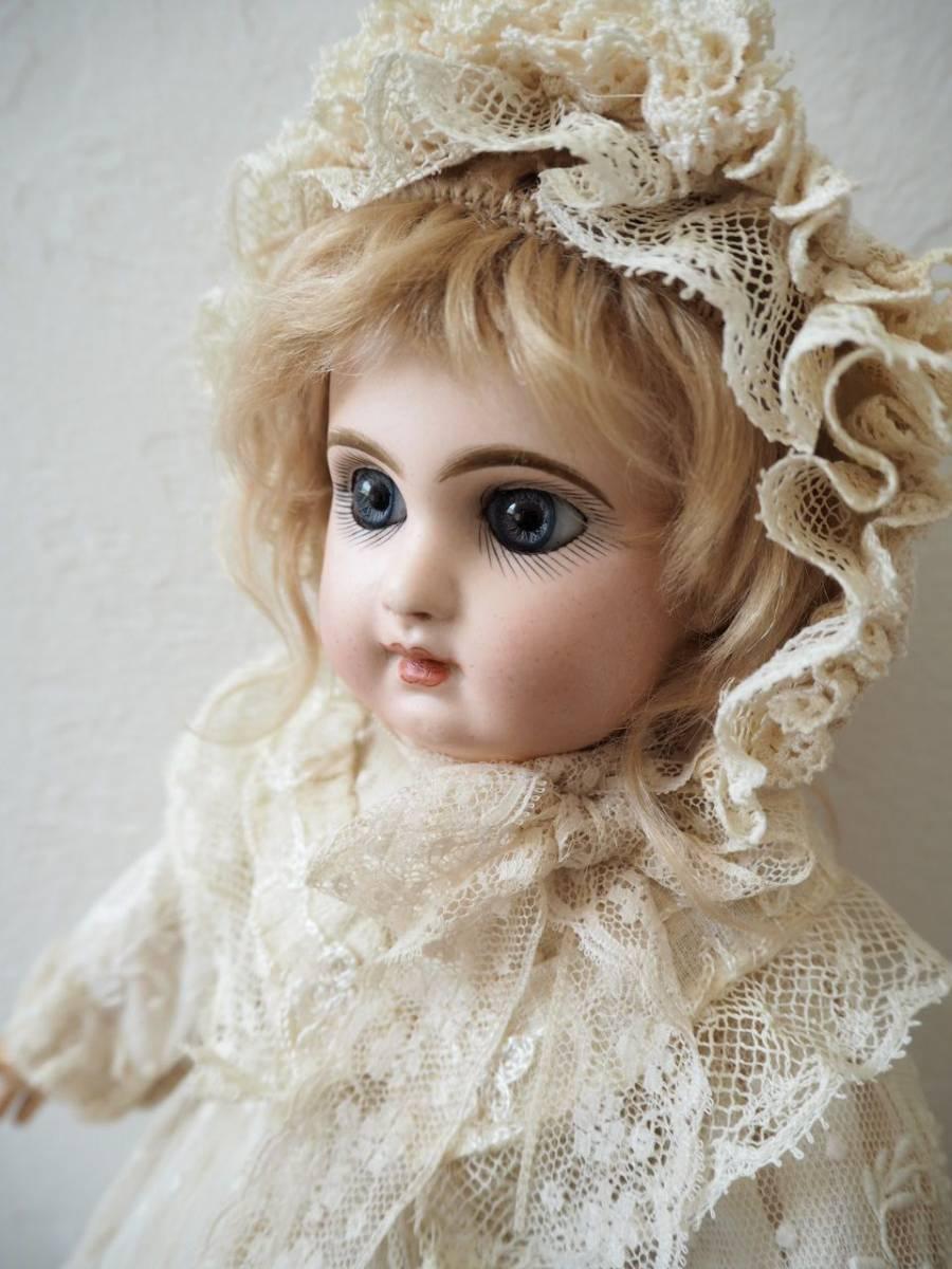 デポゼ テート ジュモー 4号 大きな美しい青い瞳 クリスマスの小さな妖精 フランス アンティーク ビスクドール Depose Tete Jumeau_画像6