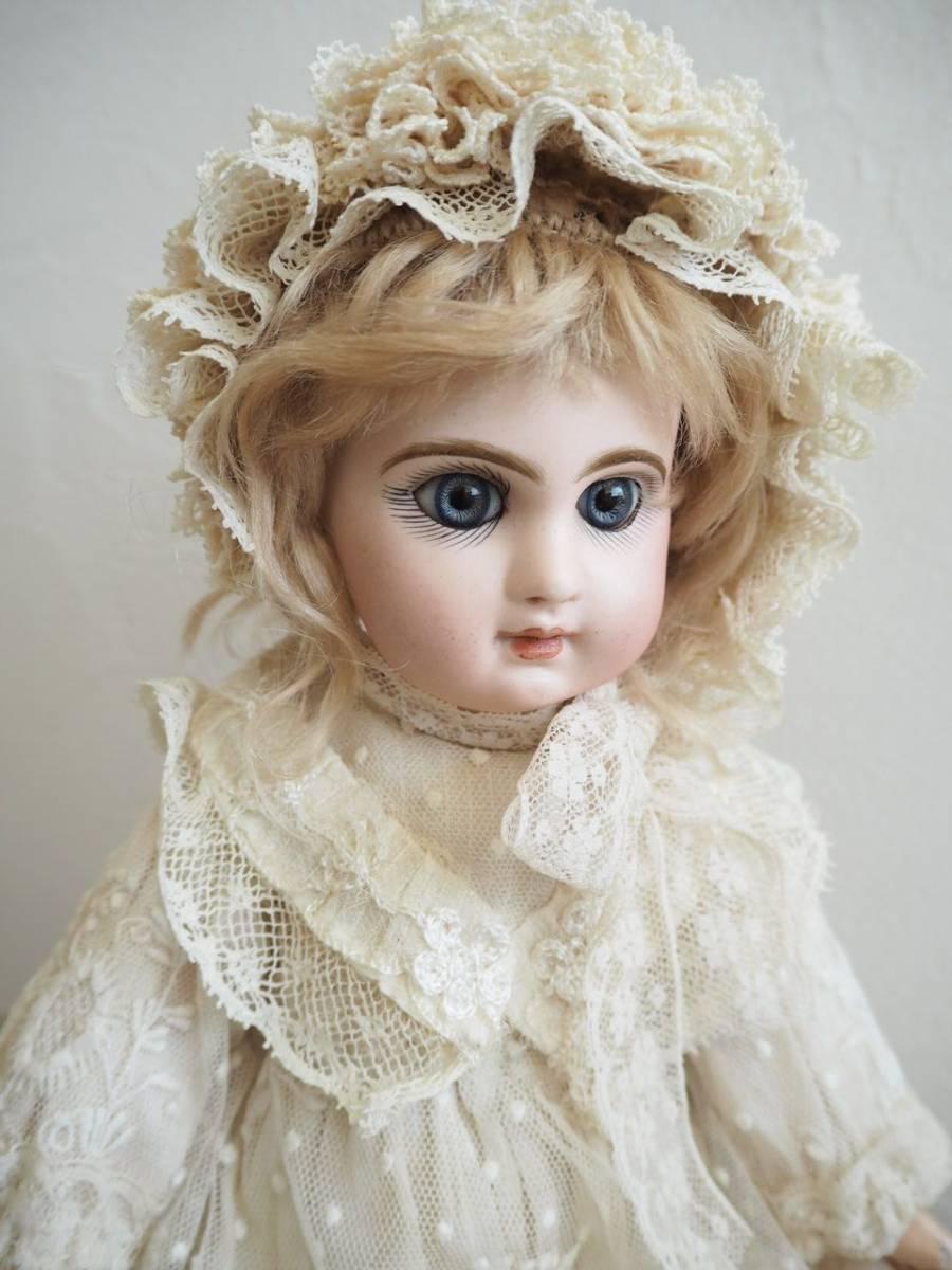 デポゼ テート ジュモー 4号 大きな美しい青い瞳 クリスマスの小さな妖精 フランス アンティーク ビスクドール Depose Tete Jumeau_画像5
