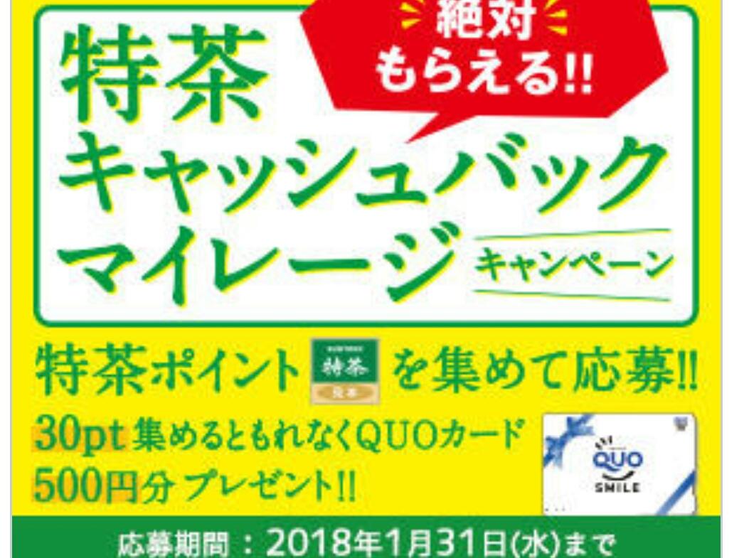 ◆サントリー◆特茶キャッシュバックマイレージキャンペーン◆特茶ポイント150ポイント◆