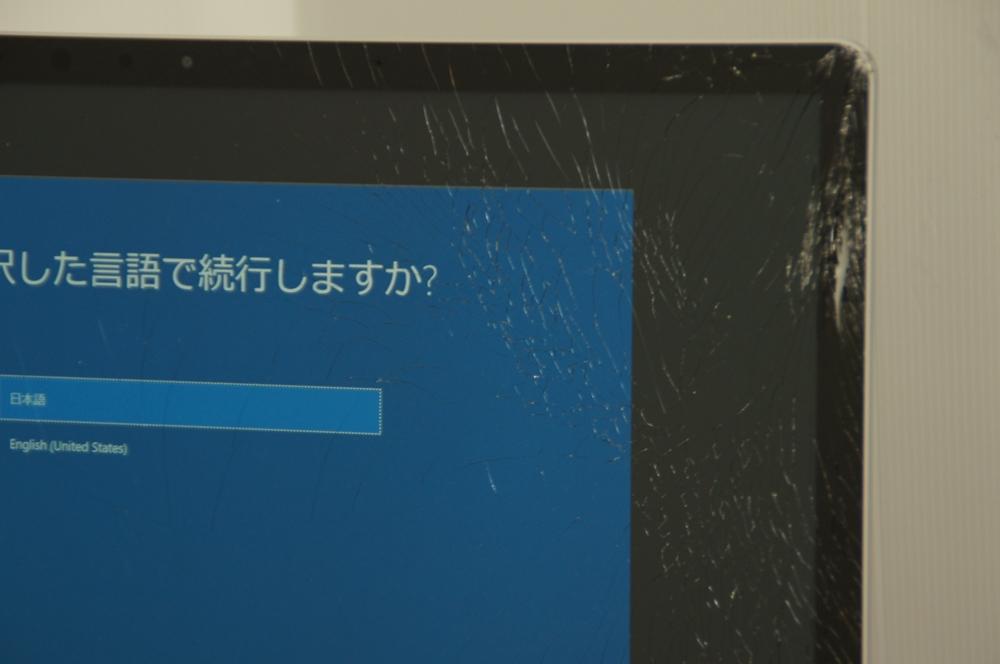 【ジャンク】Surface Laptop Model 1769 D4G-00059 Core i5-7200U 2.5Ghz ※液晶ヒビ_画像2