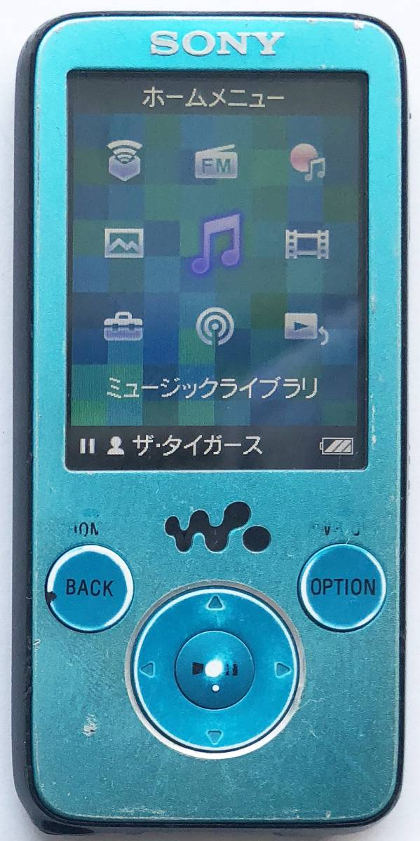 【SONY】デジタルウォークマン NW-S636F(4GB)ブルー:送料164円