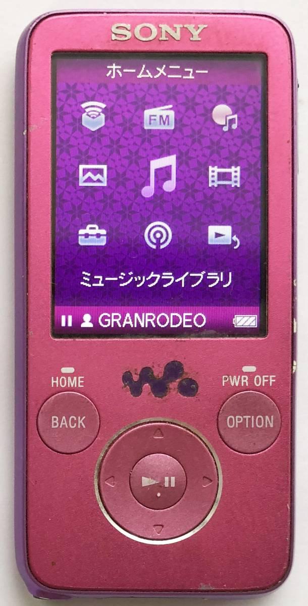 【SONY】デジタルウォークマン NW-S636F(4GB)ピンク:送料164円:難有