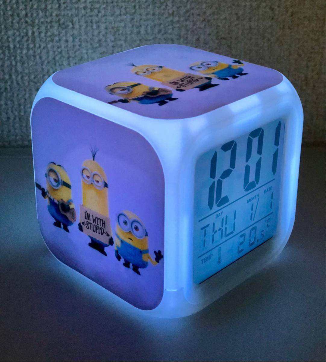 ミニオン デジタル 置時計 アラーム 目覚時計 大人気
