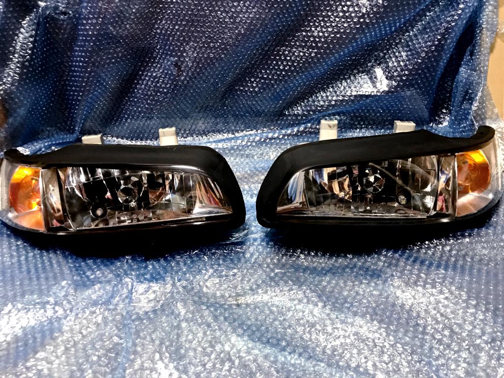 ビート PP1 ヘッドライト、マルチリフレクター、オールクリアカバー仕様 落札品 未使用