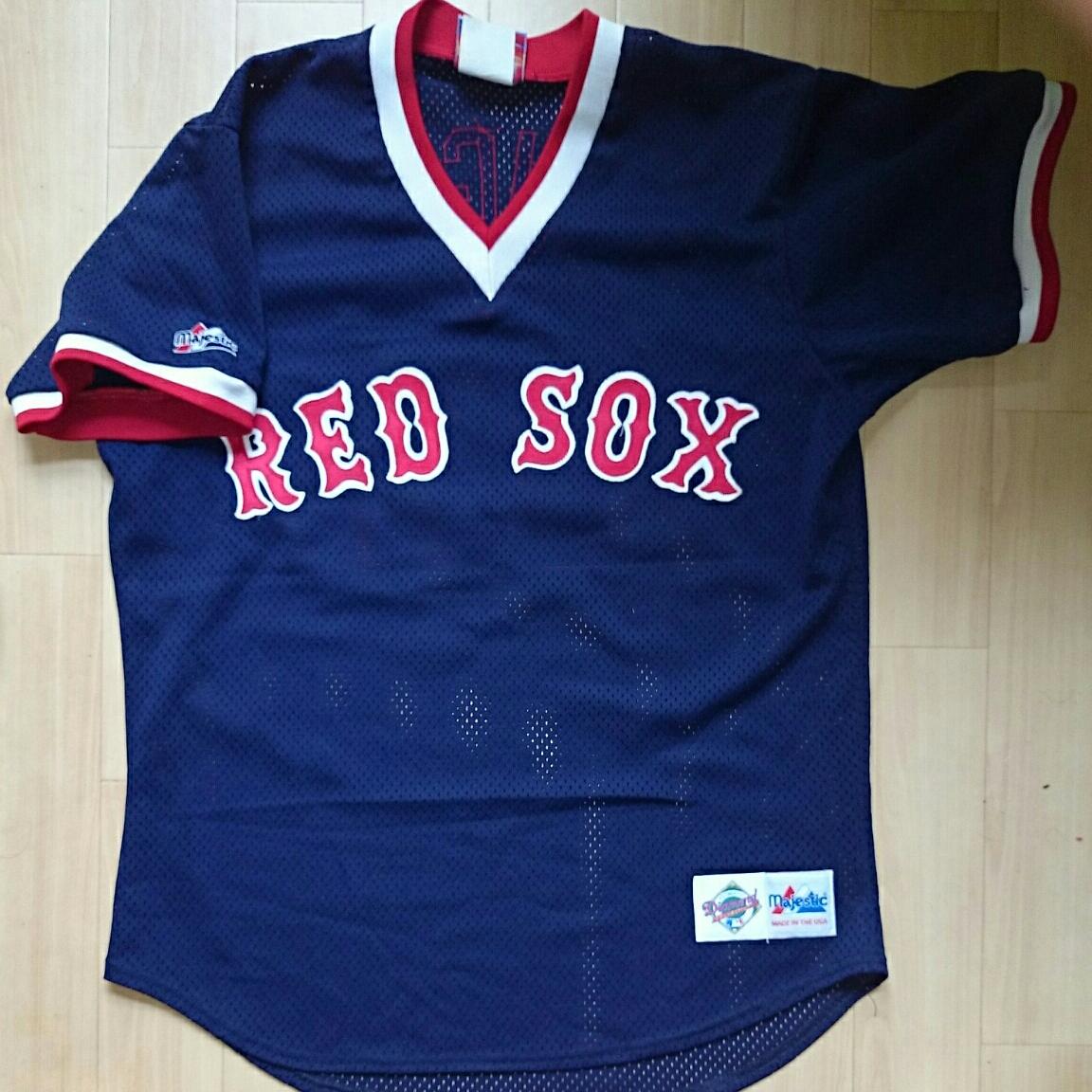 ★MO VAUGHN JERSEY ユニフォーム BOSTON RED SOX ボストン レッドソックス モー ボーン ヴォーン MLB メジャーリーグ 大リーグ MAJESTIC_画像1