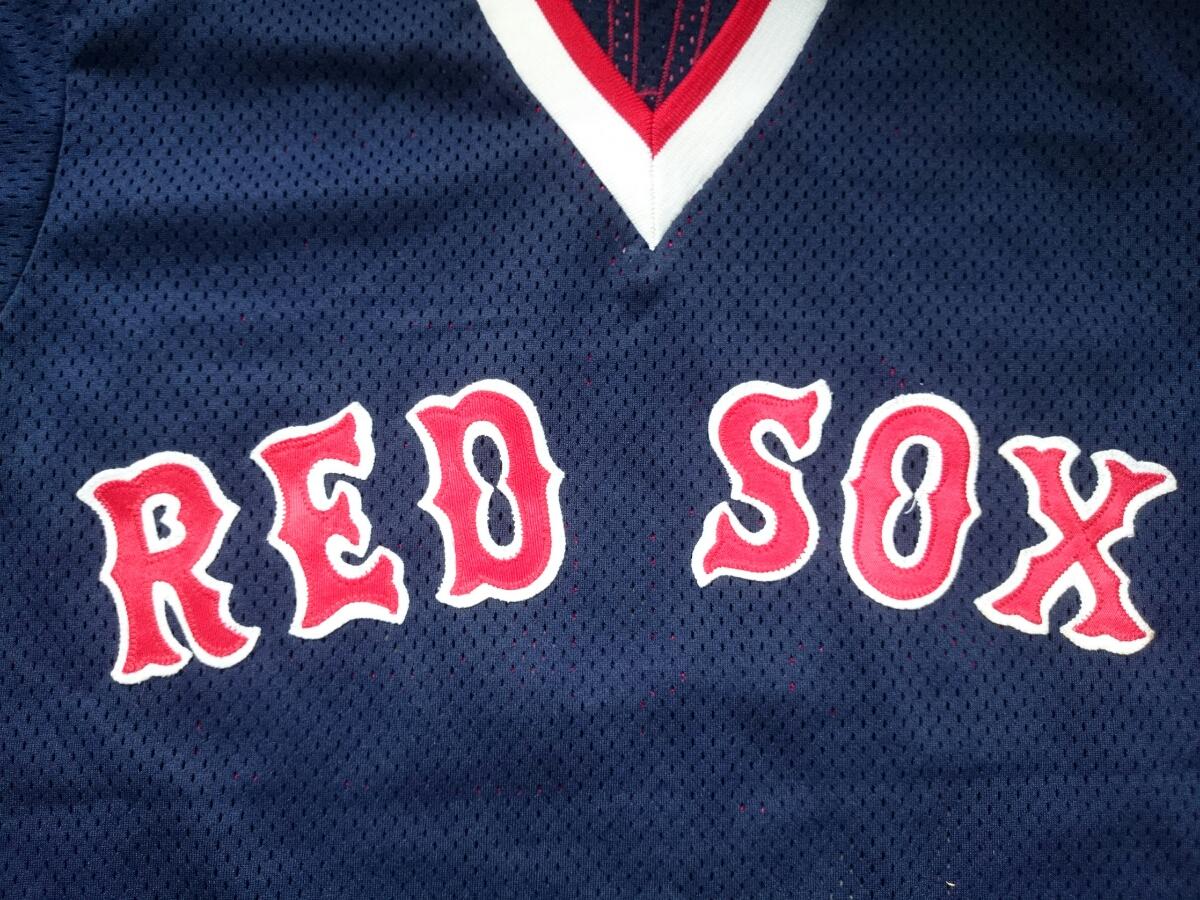 ★MO VAUGHN JERSEY ユニフォーム BOSTON RED SOX ボストン レッドソックス モー ボーン ヴォーン MLB メジャーリーグ 大リーグ MAJESTIC_画像5