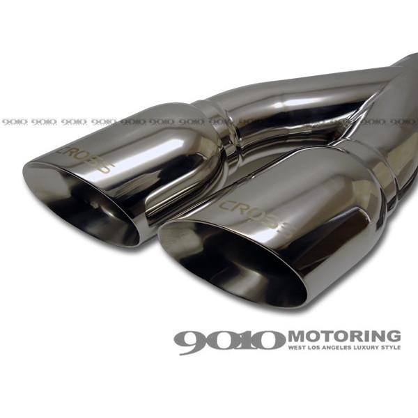 [CROSS] all-purpose SUS304 dual muffler chip / tail pipe . cut .Type1 Laser Logo muffler cutter [CREX-WT001]