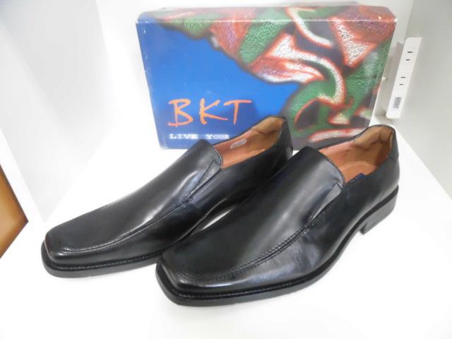 ○BKT ビジネス シューズ 靴 27.5cm ブラック イタリア製45 本革 展示品