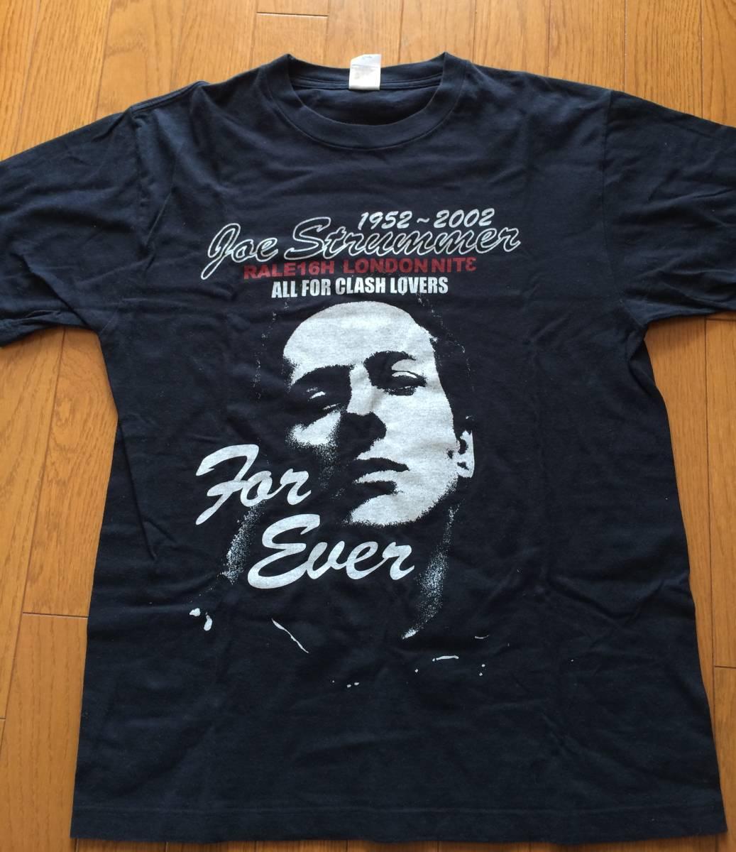 ★貴重 ジョー ストラマー追悼  Tシャツ 黒 /Raleigh・ロンドンナイト・ラリー/Clash・クラッシュ /PUNK パンク /