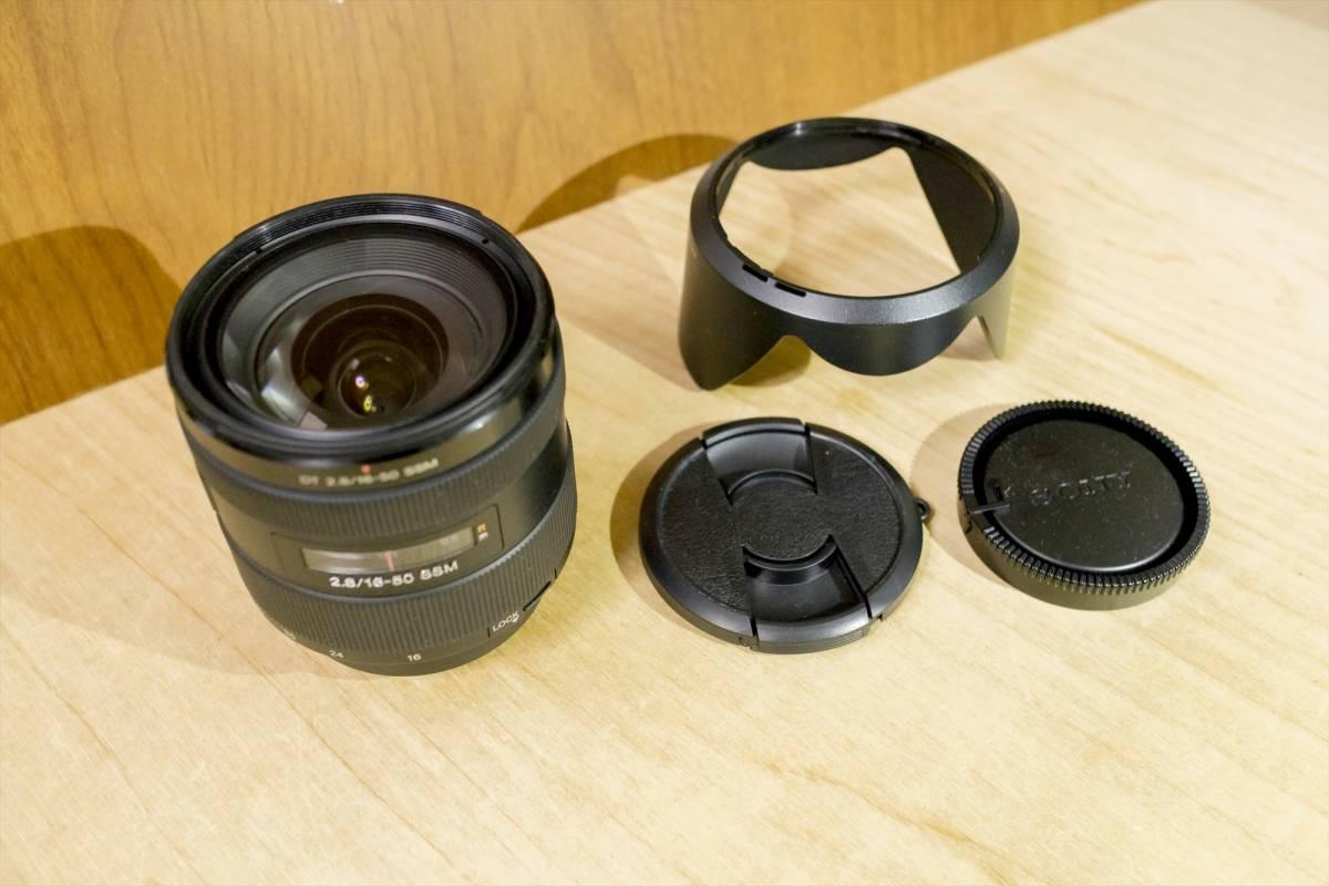 SONY DT 16-50mm F2.8 SSM SAL1650 ソニー レンズ 美品 Aマウント フード キャップ リアマウントキャップ