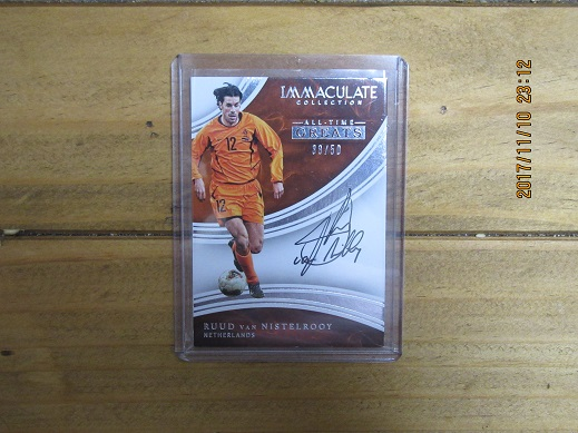 ★Panini Immacurate Soccer 2017 Ruud Van Nistelrooy(Netherland) ファンニステルローイ ALLTIME Greats Auto 直筆サイン/50★