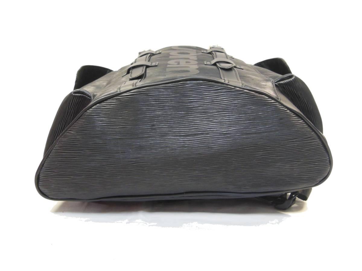◆Louis Vuitton◆Supreme◆ルイヴィトンとシュプリームのコラボ、バックパック◆ブラックエピ◆_画像9