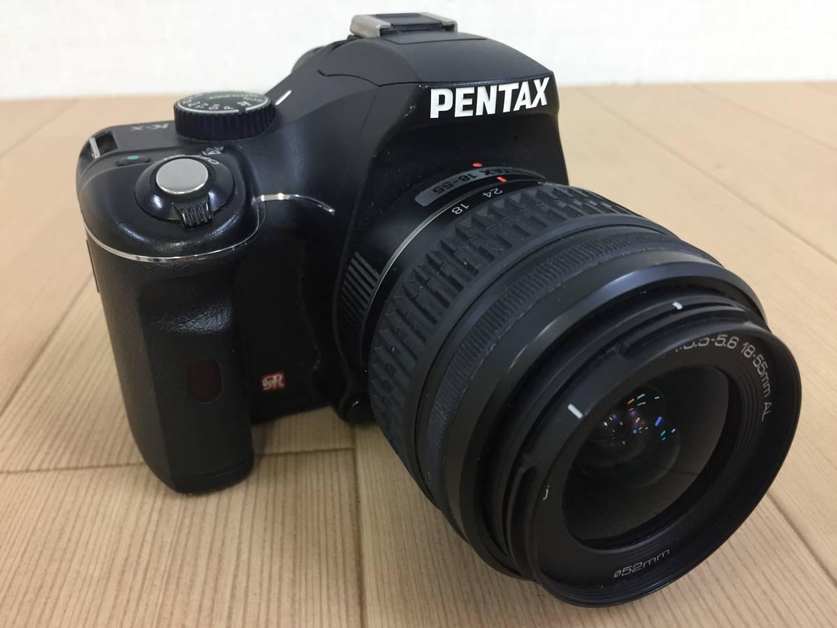 01-I743P【PENTAX】デジタル一眼 カメラ K-x レンズ SMC PENTAX-DAL 1:3.5-5.6 18-55mm AL