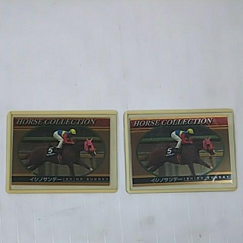 イシノサンデー ホースコレクション 競馬カード ジョッキーカード 2枚セット _画像1