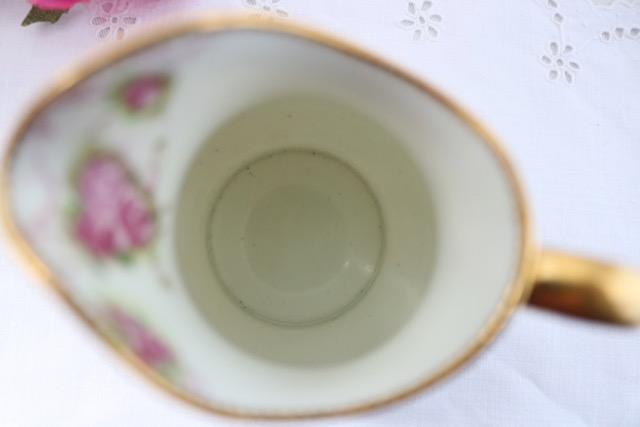 【イギリス】Paragon(パラゴン)ローズ柄ミルク&シュガー(プレートおまけ)【アンティーク】_画像6