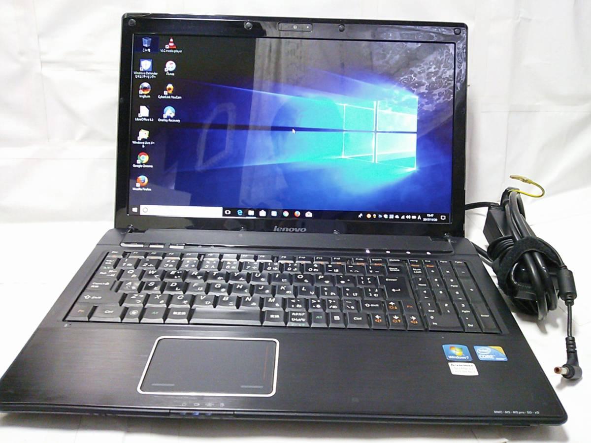 ◇整備済PC/Windows10 Home 64bit Lenovo G560 Core i3 330M 2.13GHz 4GB 500GB DVDハイパーマルチ Webカメラ 無線 Office 即使用◆