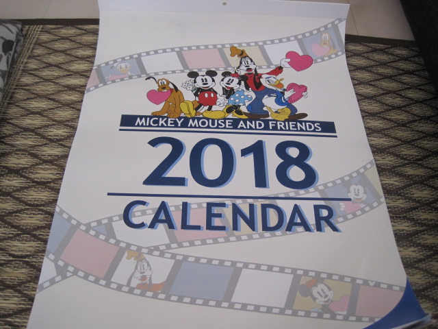 第一生命 非売品 2018年 ディズニー シンプル 6枚物カレンダー
