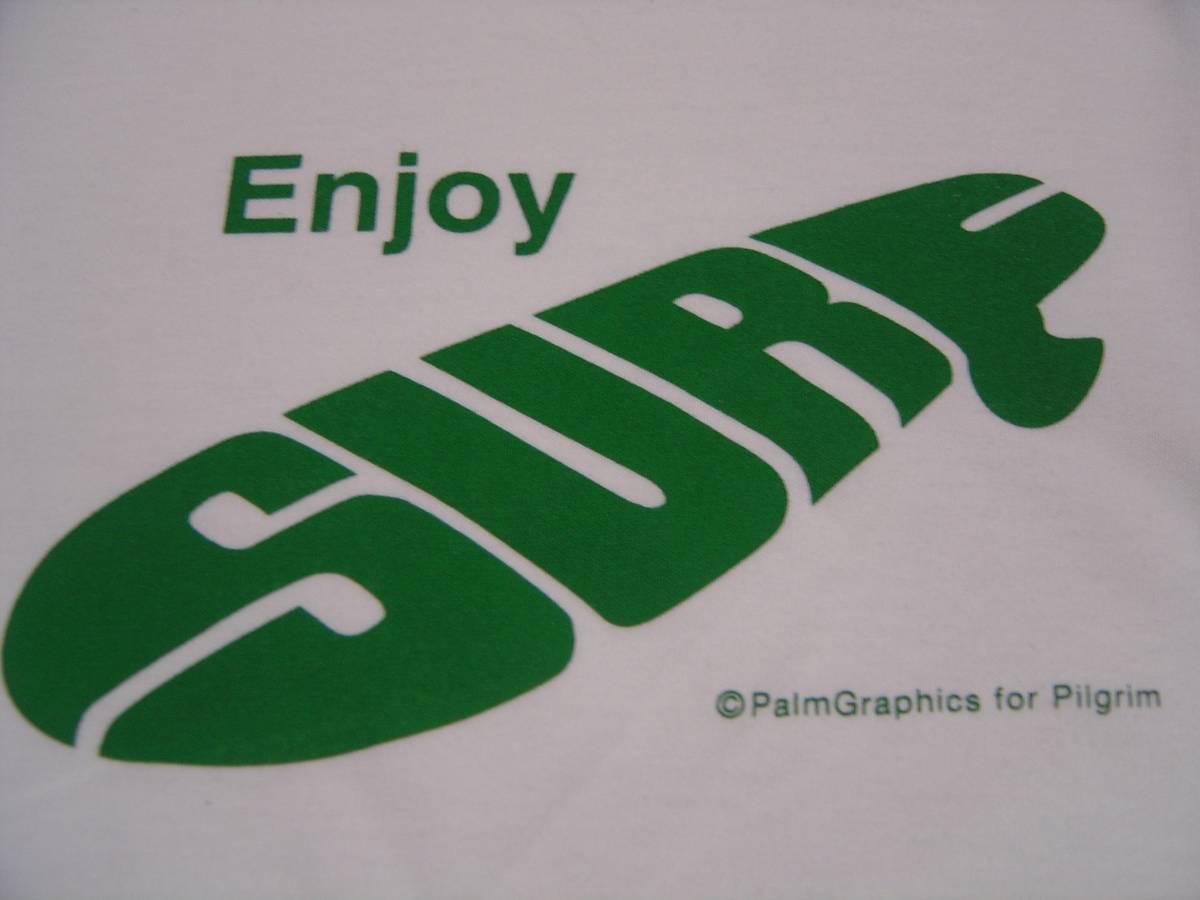 Pilgrim Surf Supply ピルグリム サーフ Palm Graphics Enjoy BEAMS ビームス S ロンハーマン ペナントロゴ Tシャツ S サーフィン 豊田弘治_画像1