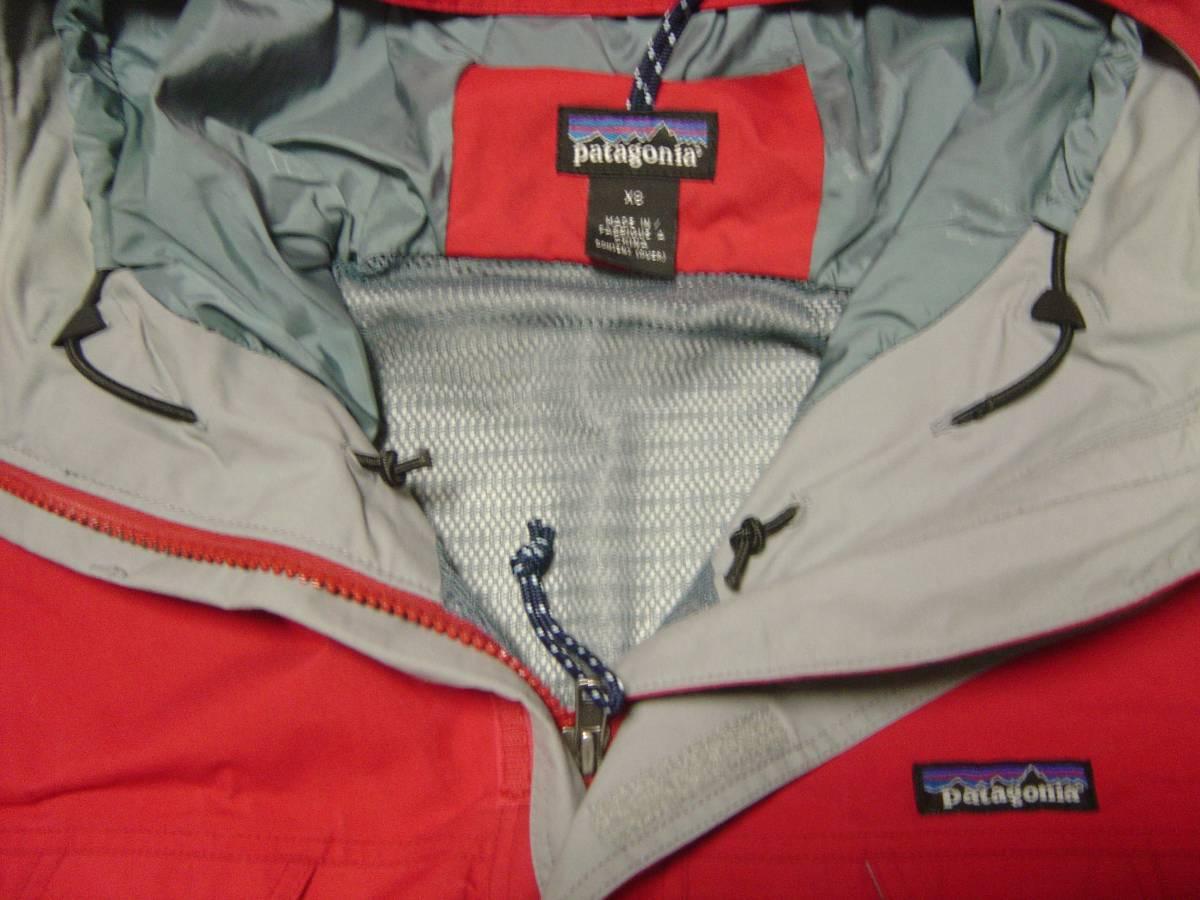 パタゴニア patagonia ストームジャケット das チリレッド 赤 99年 BTC シェル フェイス xs ジャケット ナイロン ノース xs_画像2
