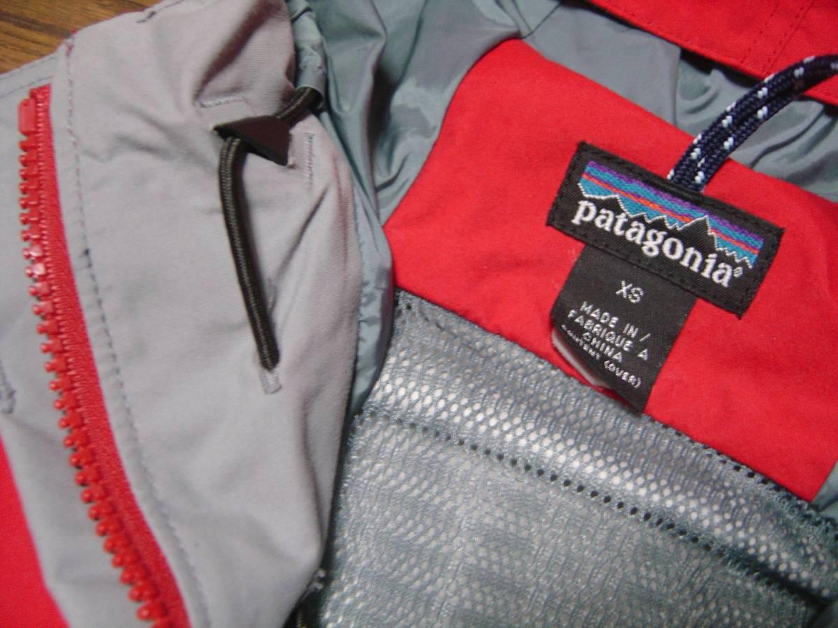 パタゴニア patagonia ストームジャケット das チリレッド 赤 99年 BTC シェル フェイス xs ジャケット ナイロン ノース xs_画像3