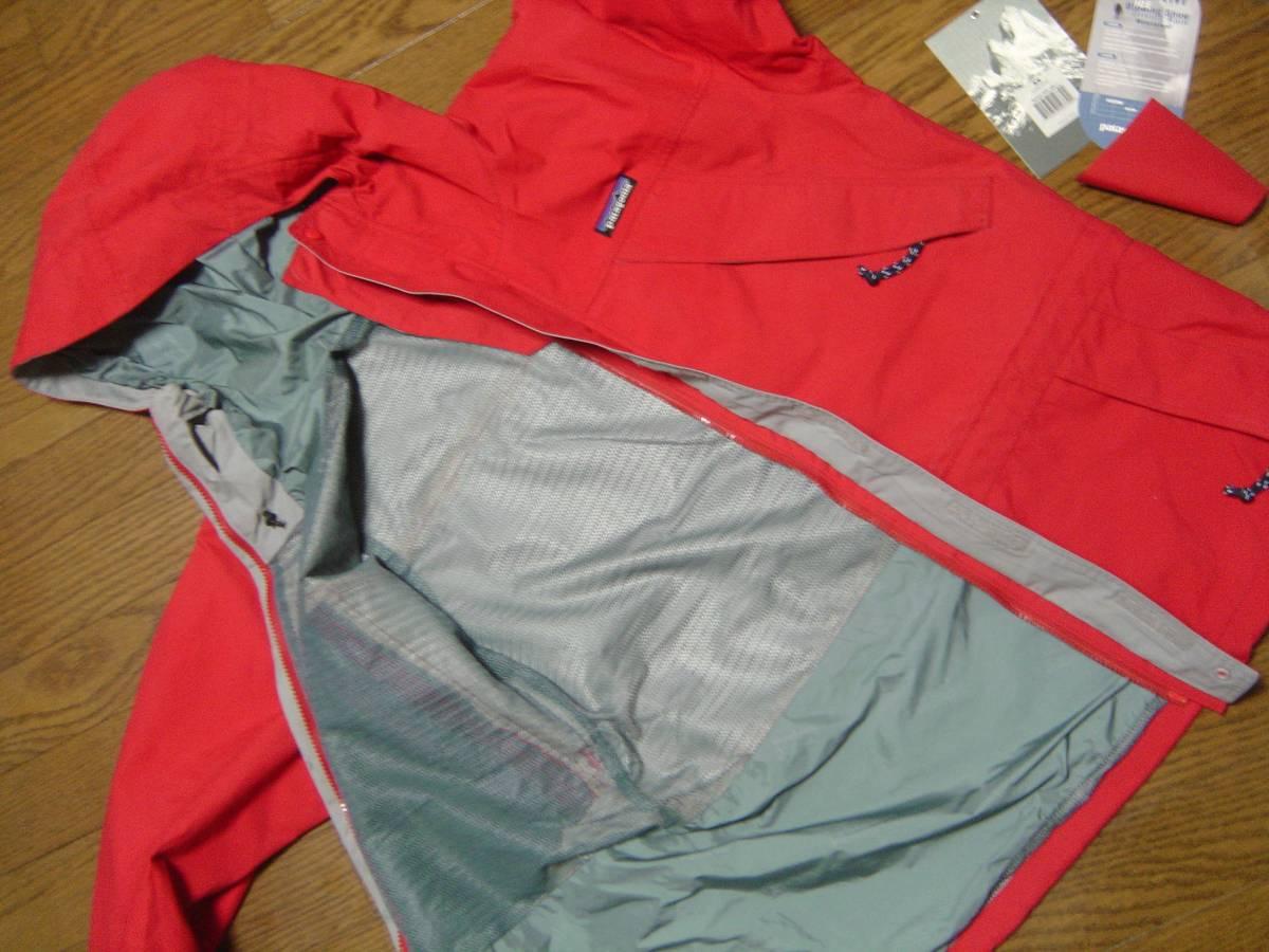 パタゴニア patagonia ストームジャケット das チリレッド 赤 99年 BTC シェル フェイス xs ジャケット ナイロン ノース xs_画像6