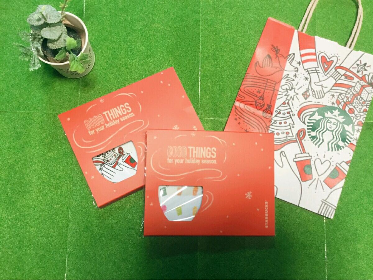 非売品/スターバックス トレー 2種類 クリスマスホリデー 2017年限定品