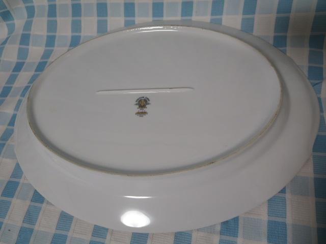 ノリタケ 柄違い楕円大皿2枚セット FAIRMONT6102 NORWOOD6011 難あり_画像4