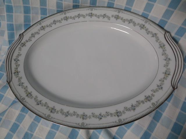 ノリタケ 柄違い楕円大皿2枚セット FAIRMONT6102 NORWOOD6011 難あり_画像6