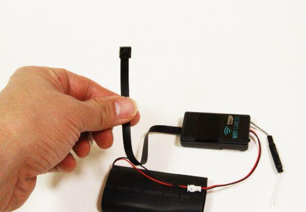 最新720PフルHD ピンホールカメラ WiFi接続 ワイヤレス iPhone スマートフォン対応