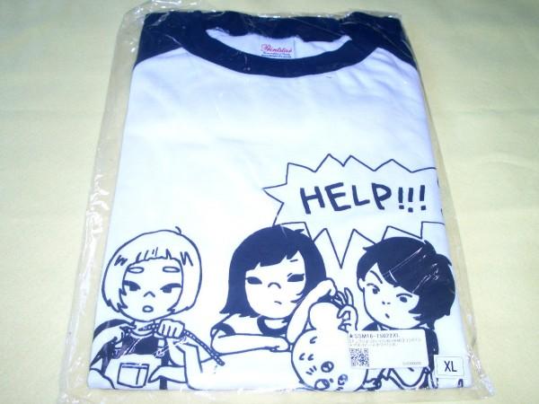 キュウソネコカミ × SHISHAMO コラボ Tシャツ サイズXL 新品 シシャモ ネイビー×ホワイト