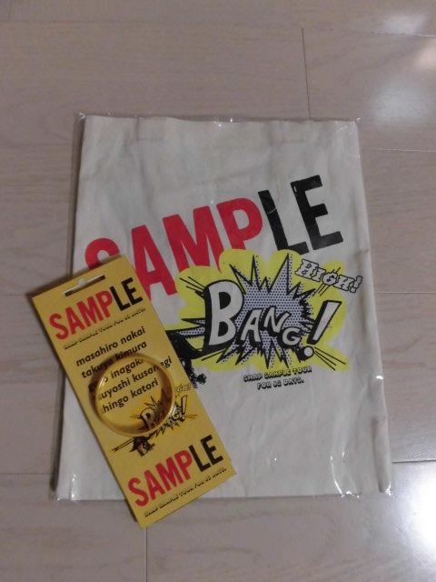 SMAP★2005年★エコバッグ/トートバッグ★ラバーリストバンドおまけ★SAMPLE TOUR★コンサート★ライブグッズ★