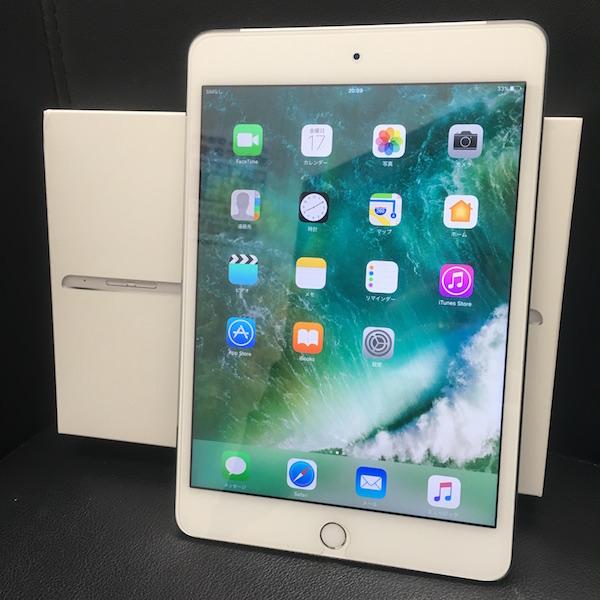 ◆ 中古 美品 iPad mini 4 docomo Wi-Fi +Cellular シルバー 16GB ドコモ 箱つき