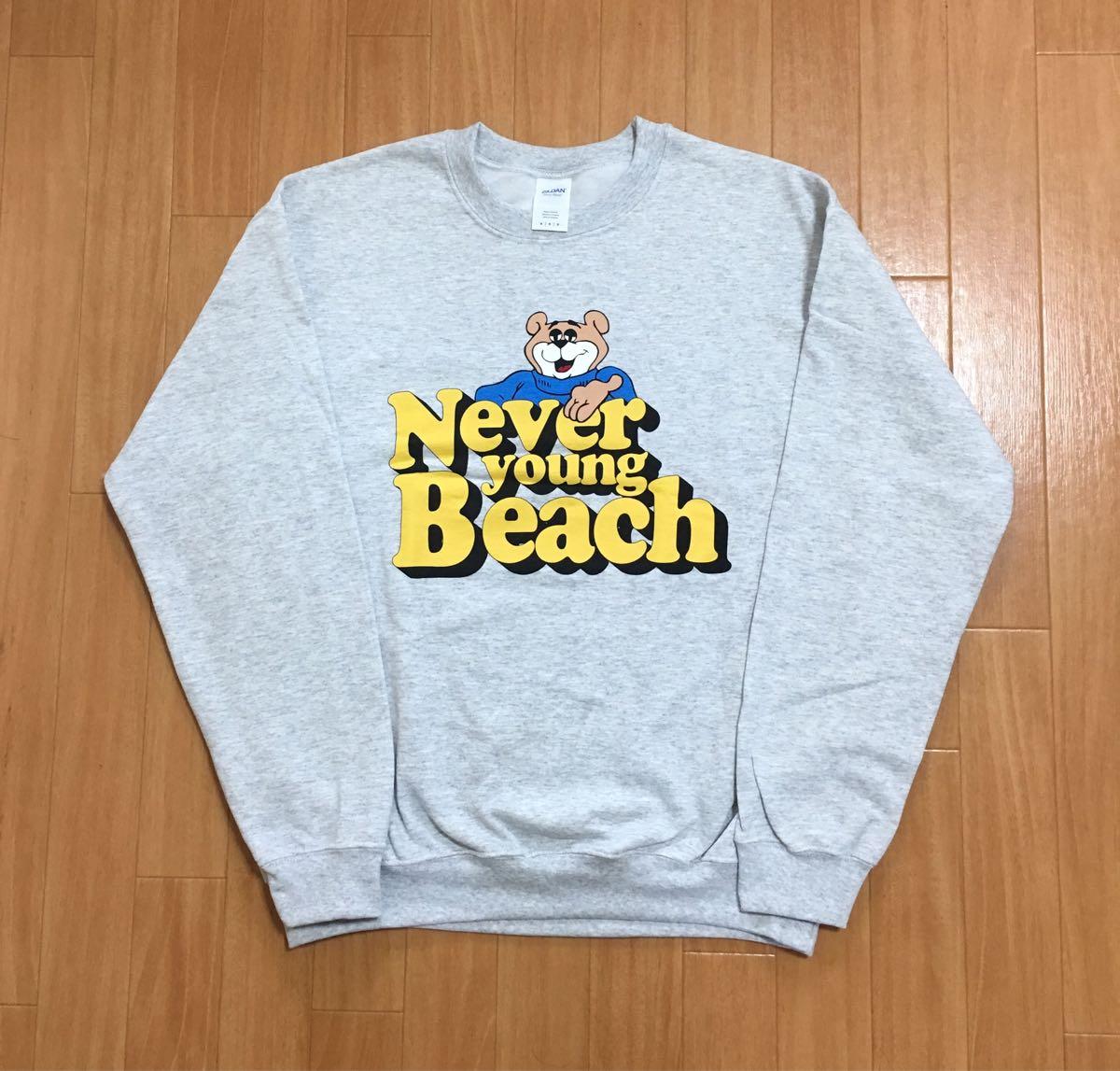 ネバーヤングビーチ never young beach スウェット トレーナー M ネバヤン サチモス suchmos ヨギーニューウェーブス yogee new waves