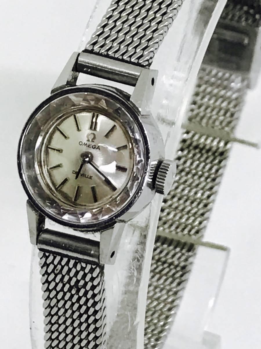 【激安】 OMEGA オメガ デヴィル レディース 手巻き 時計 カットガラス アンティーク SS 可動品 本物保障