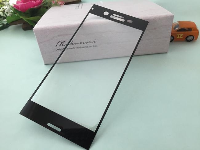3色から選べる【送料無料】ソニーXPERIA XZ Premium docomo 硬度9H SO-04J 3D曲面フルカバータイプ ガラス保護フィルム プロテクター