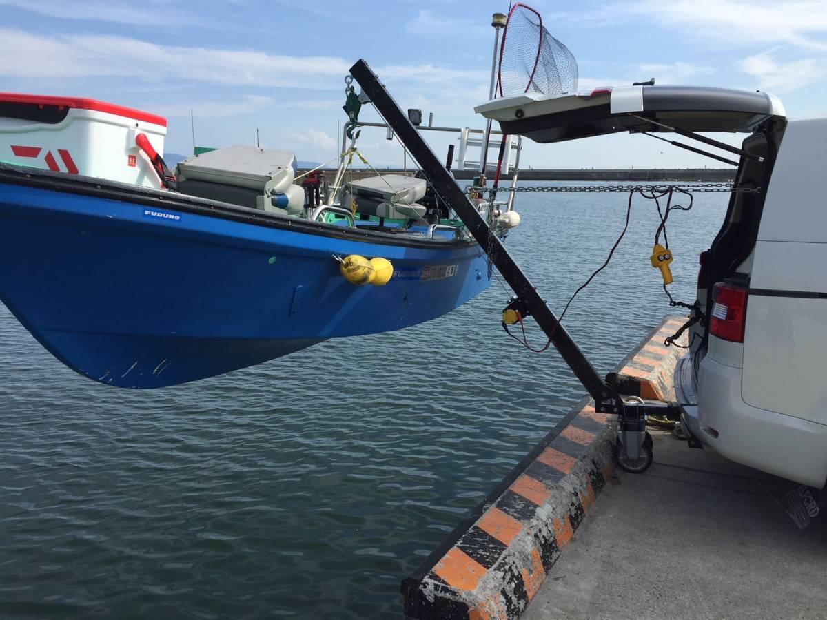 「【送料無料】☆ジェット &トレーラルボート専用の電動ヒッチクレーン V」の画像2