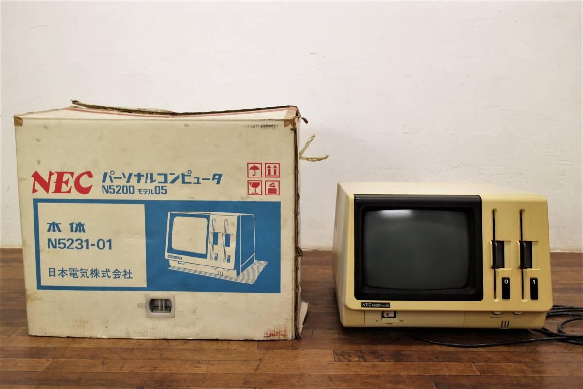 NEC パーソナルコンピュータ N5200 モデル05 ターミナルコントローラ N5231-01 元箱付 モニター パソコン